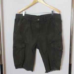 True Religion Black Cargo Shorts *Final Sale*